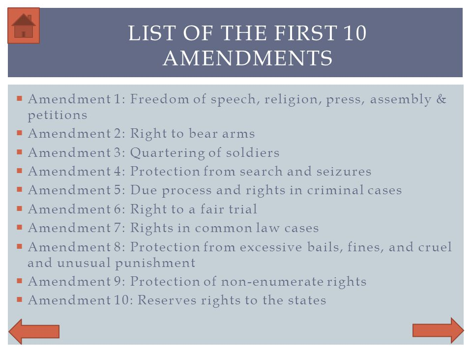 The Bill of rights Click to Continue - ppt video online ...