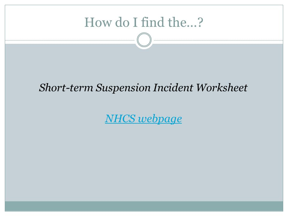 Suspension Students with Disabilities ppt download – In School Suspension Worksheets