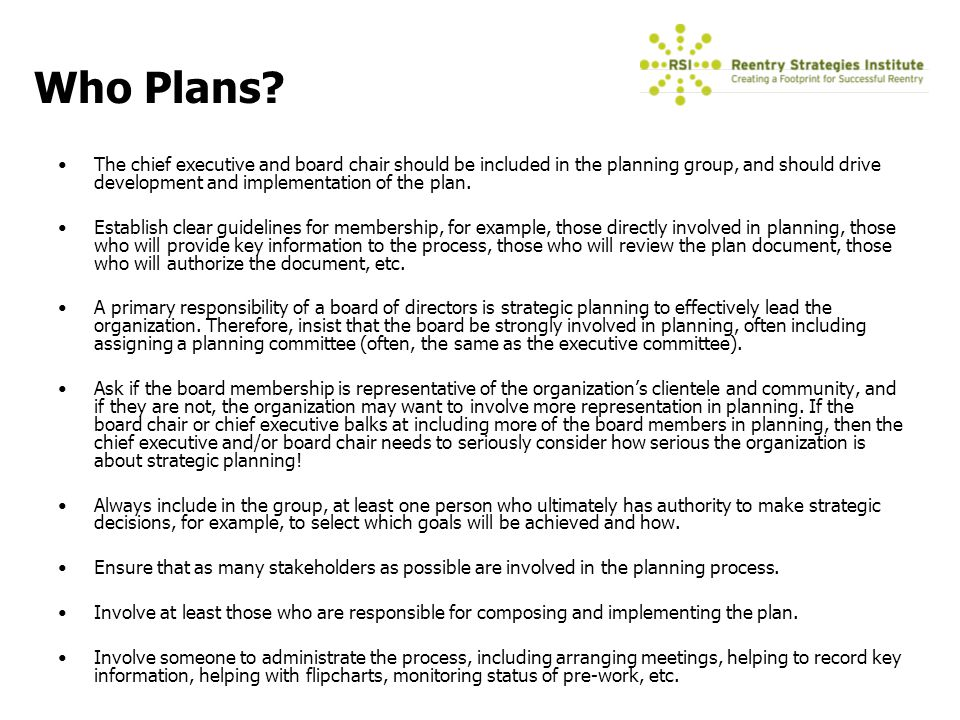 Introduction To Strategic Planning  Ppt Download