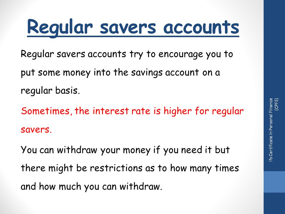 Topic 4 Understand Different Types Of Bank Account Ppt