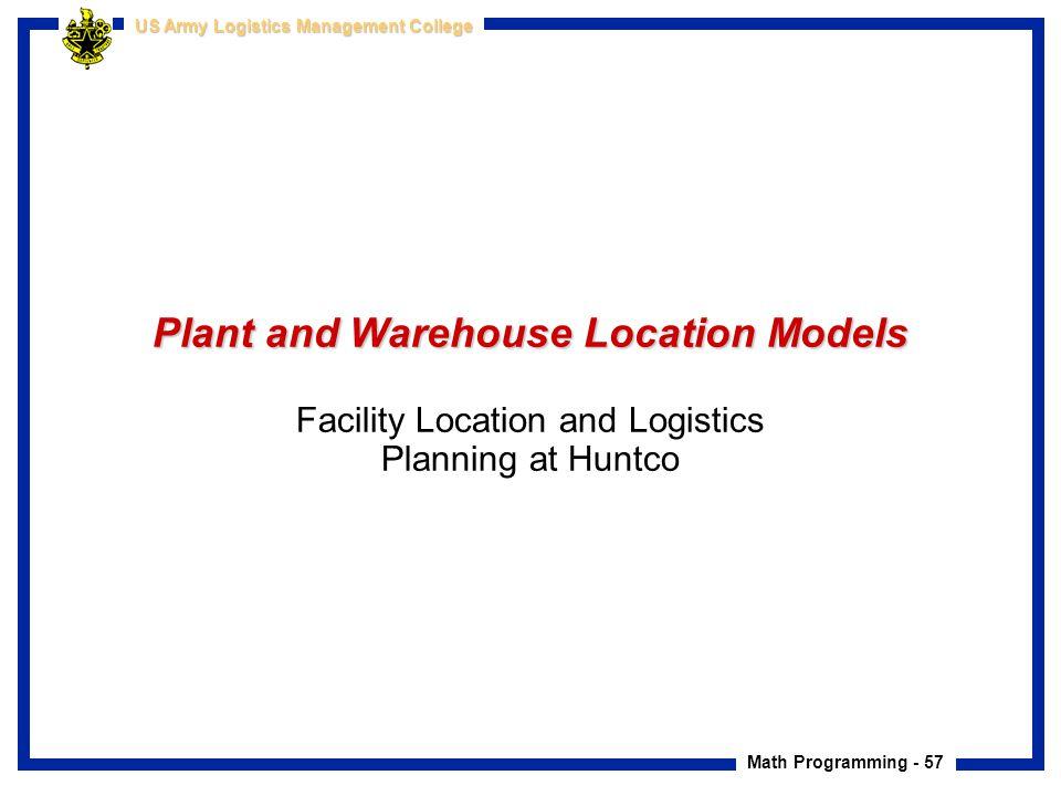 facility location models 1 1 facilities planning & design alberto garcia-diaz j macgregor smith chapter 5 location models in facilities planning 2 types of models zsingle-facility location model.