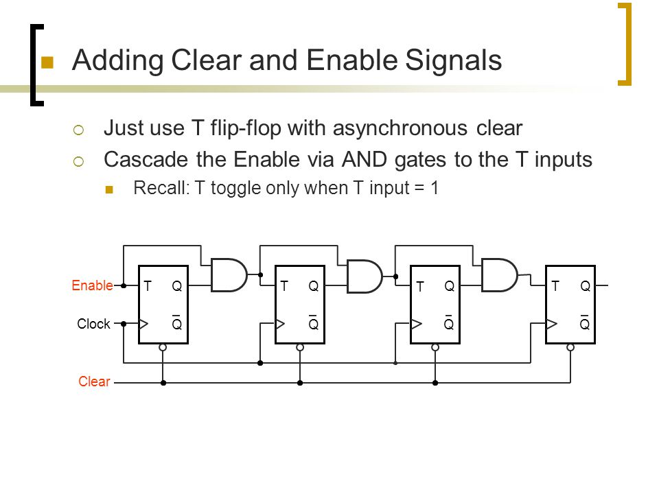 Adding Clear and Enable Signals