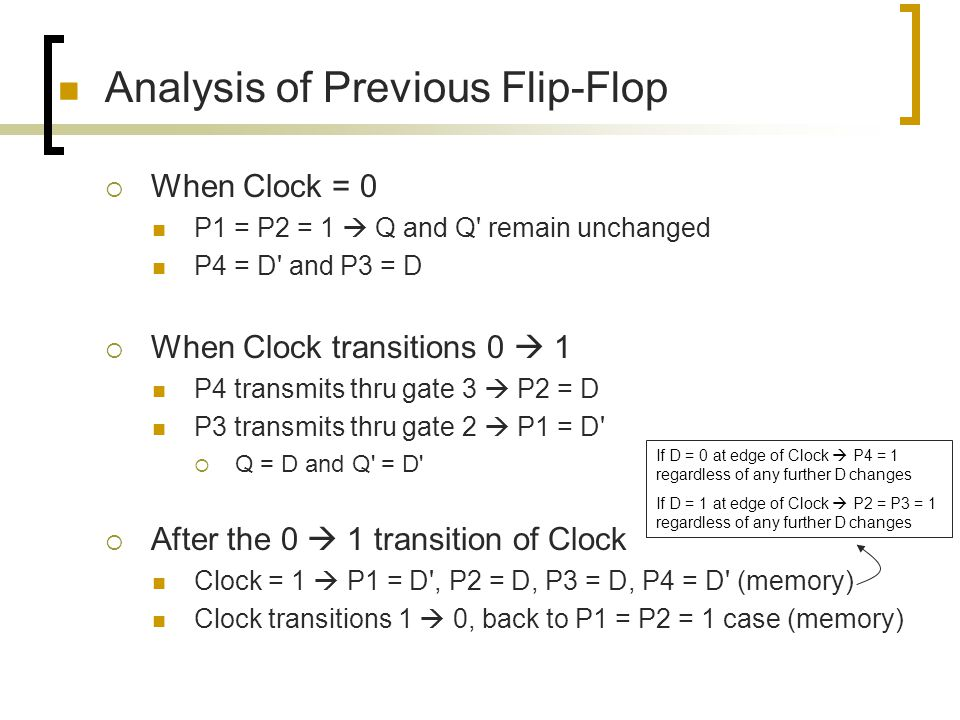 Analysis of Previous Flip-Flop