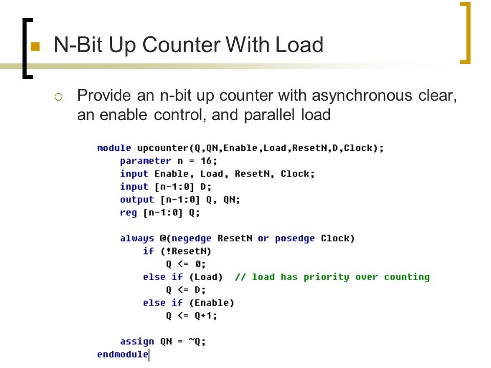 N-Bit Up Counter With Load