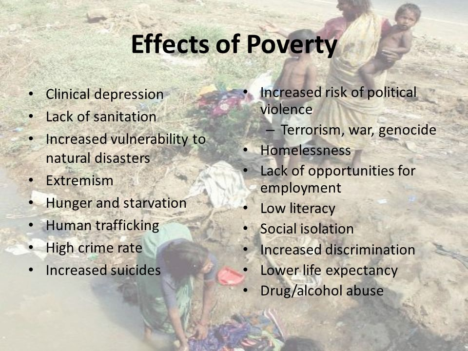 long term effects of poverty Download citation | long-term cognitive | it is generally accepted that early childhood education improves the cognitive performance of children in poverty in the short-term, but whether.