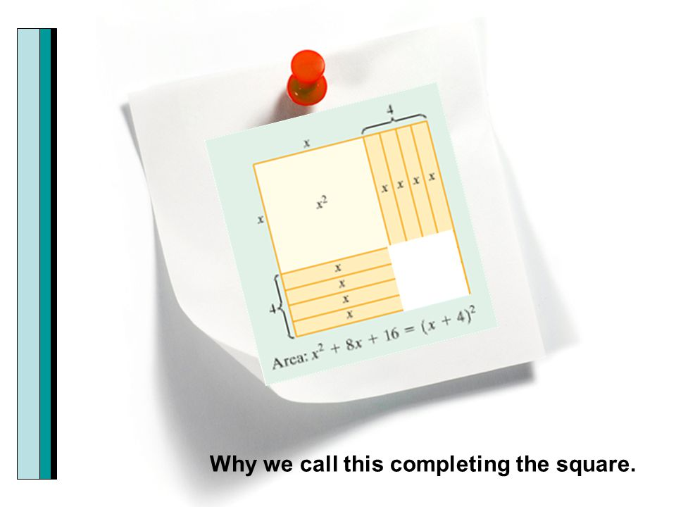Why we call this completing the square.