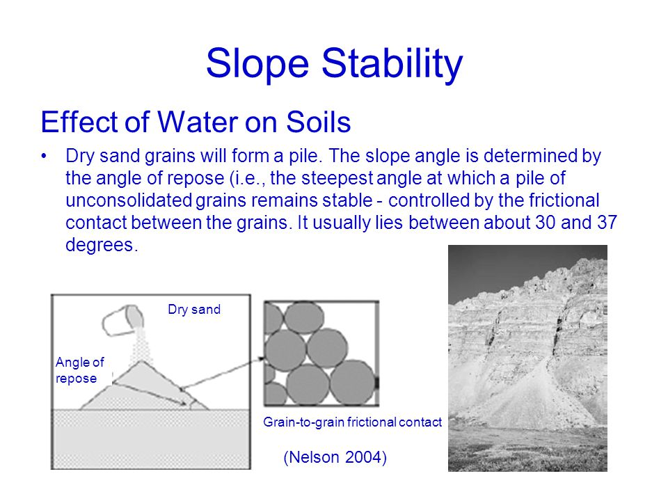 effect of vegetation on slope stability Keywords: slope stability vegetation suction parameter clay  this study  explores issues related to vegetation effects in slope stability.
