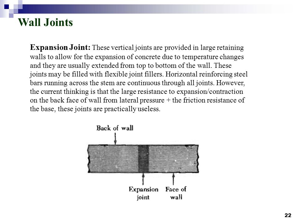 expansion joint concrete wall. 22 wall joints expansion joint concrete