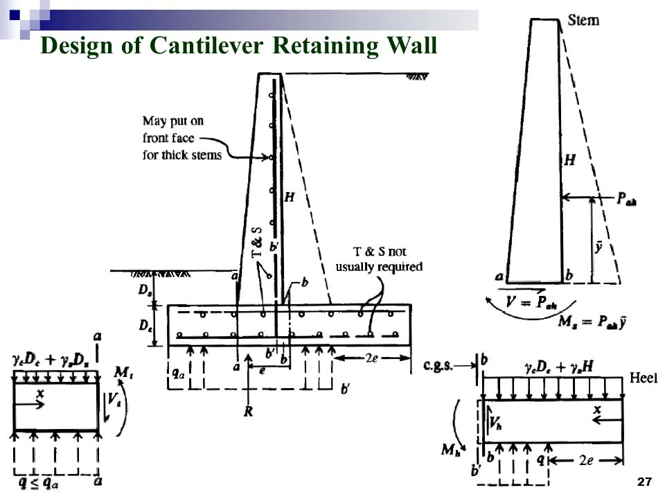 design of cantilever retaining wall - Design Retaining Wall