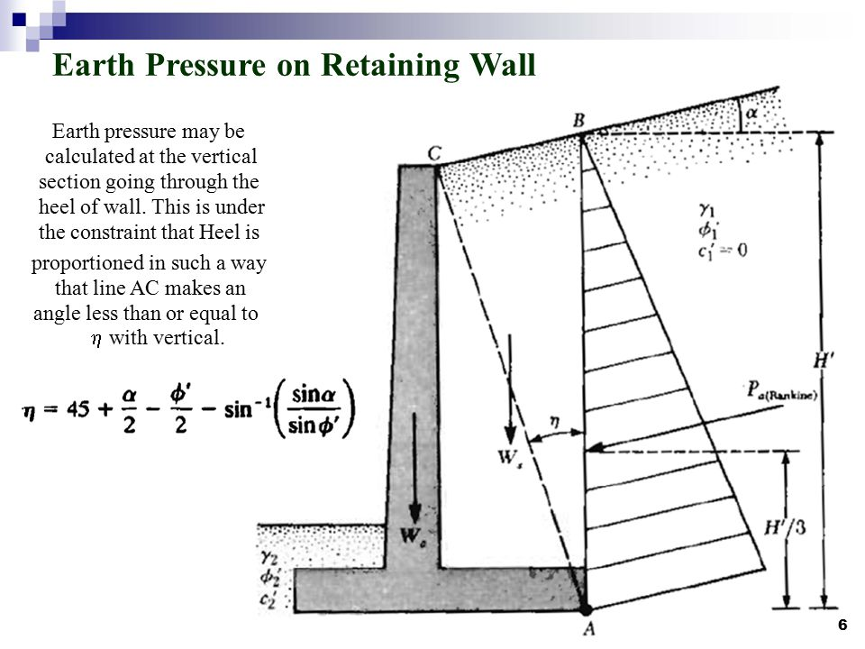 Gravity Wall Design 4 Optimum Design Of Semi Gravity Retaining