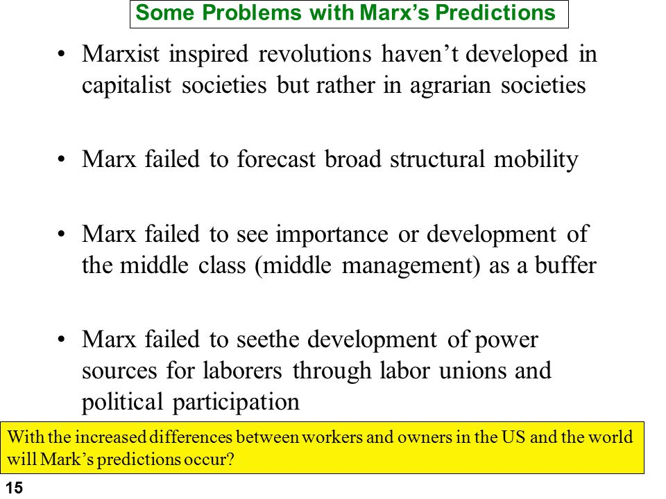 soc marx vs weber Weber saw both structural and action approaches as necessary to developing a  full  in one of his most important works 'economy and society', first  (unlike  marxism) negative – still too much focus on society shaping the.