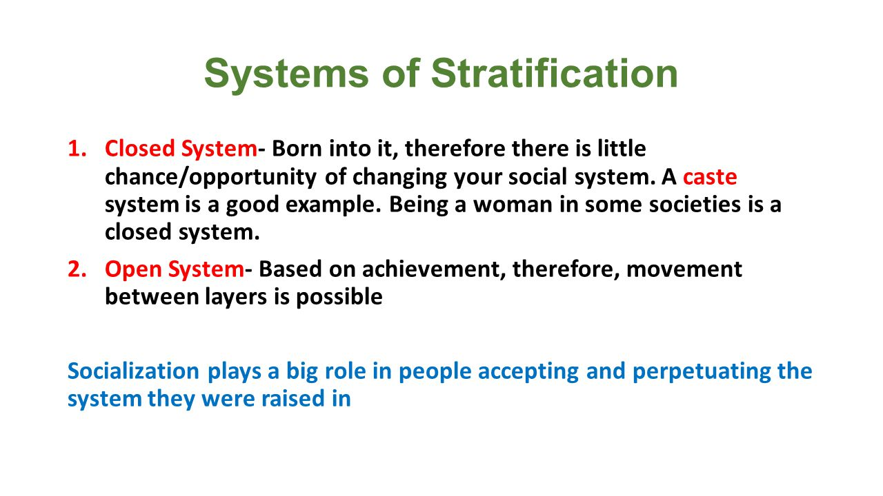 Social Stratification In The Us Ppt Download