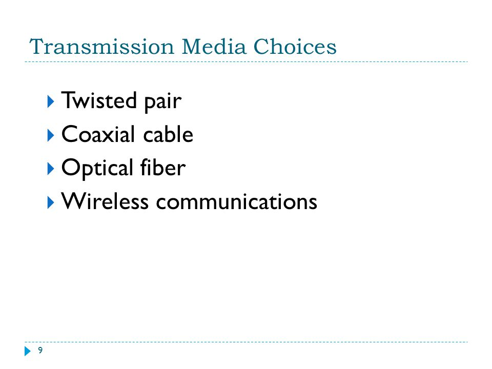 Transmission Media Choices