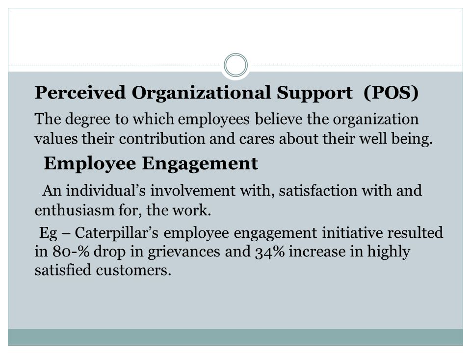 Perceived Organizational Support (POS)