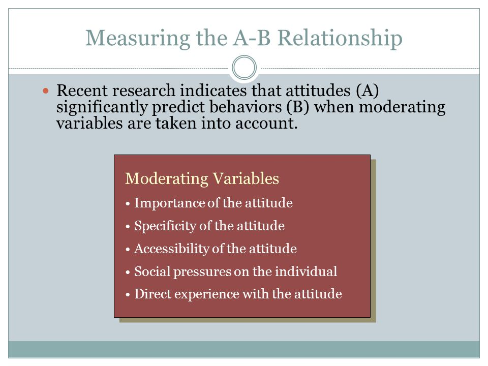 Measuring the A-B Relationship