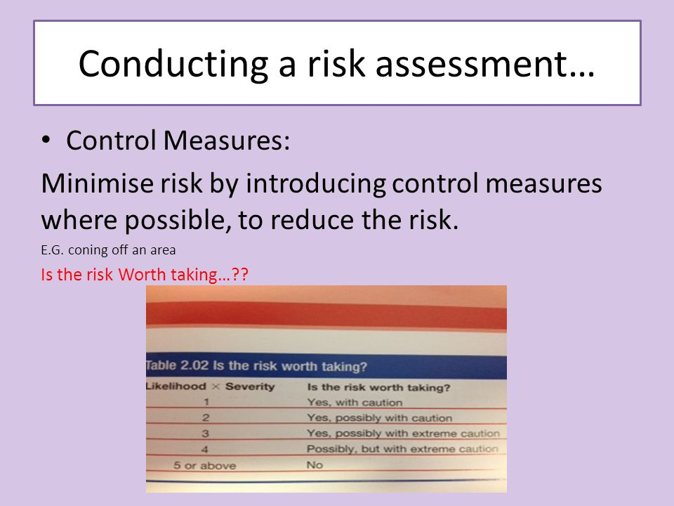 p3 the risk assessment that was P3 carry out a risk assessment in a health or social care setting  health, safety and security in health and social care level 3 unit 3.