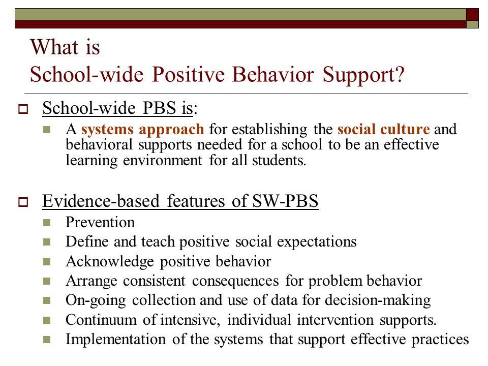 What is School-wide Positive Behavior Support