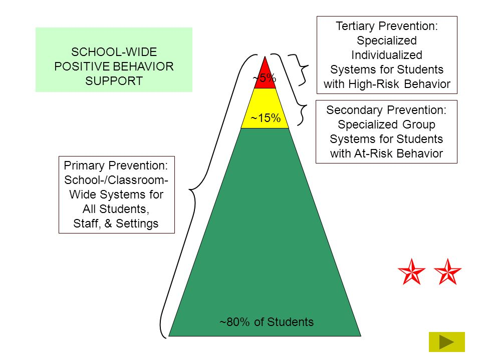  Tertiary Prevention: Specialized Individualized SCHOOL-WIDE