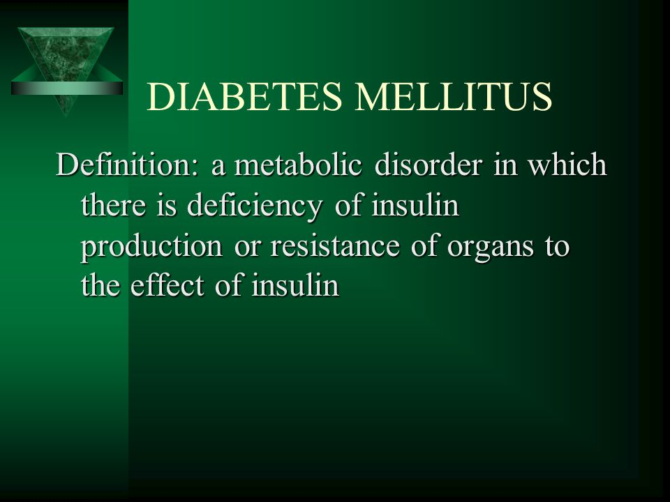 Diagnosis and Classification of Diabetes Mellitus