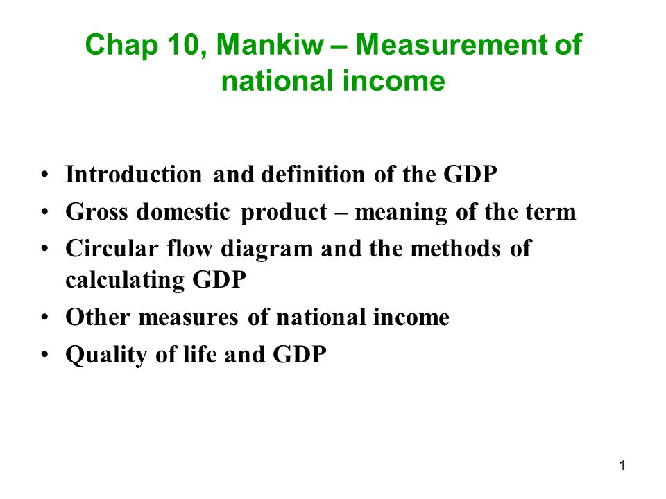 How to Calculate the GDP of a Country