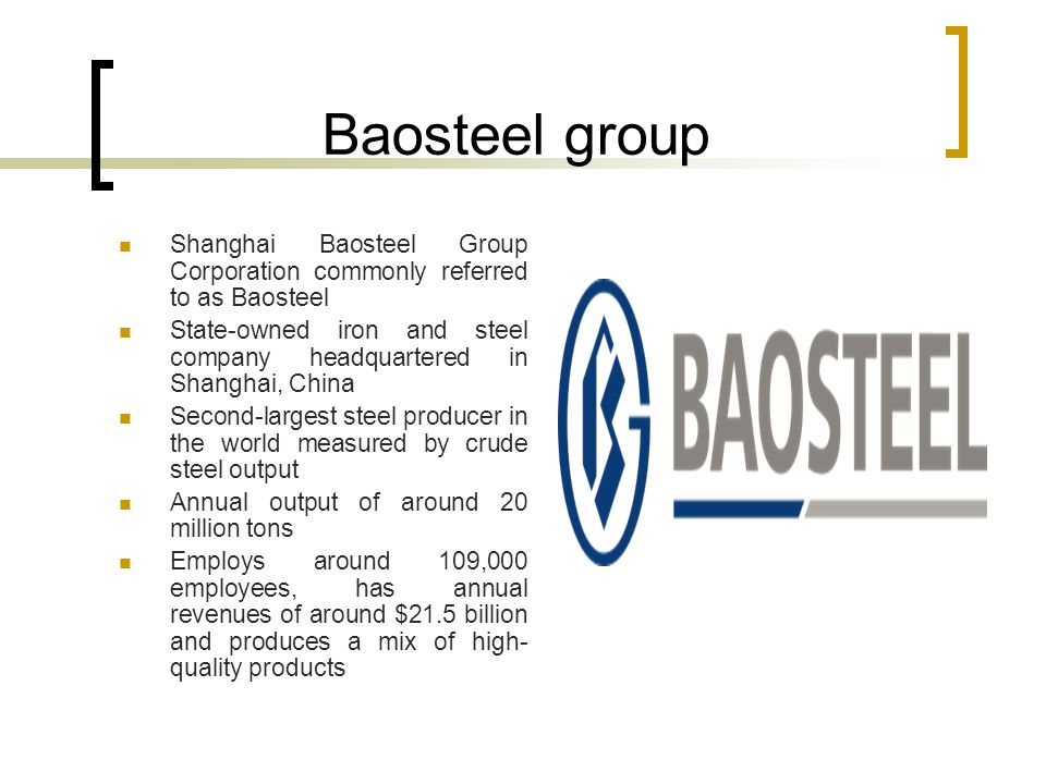 baosteel group Baosteel does not provide actual list prices in its monthly announcements, only the margin of increase or decrease baosteel group continues to announce offers separately from wuhan iron & steel group, despite their december 2016 merger to form china baowu steel group.