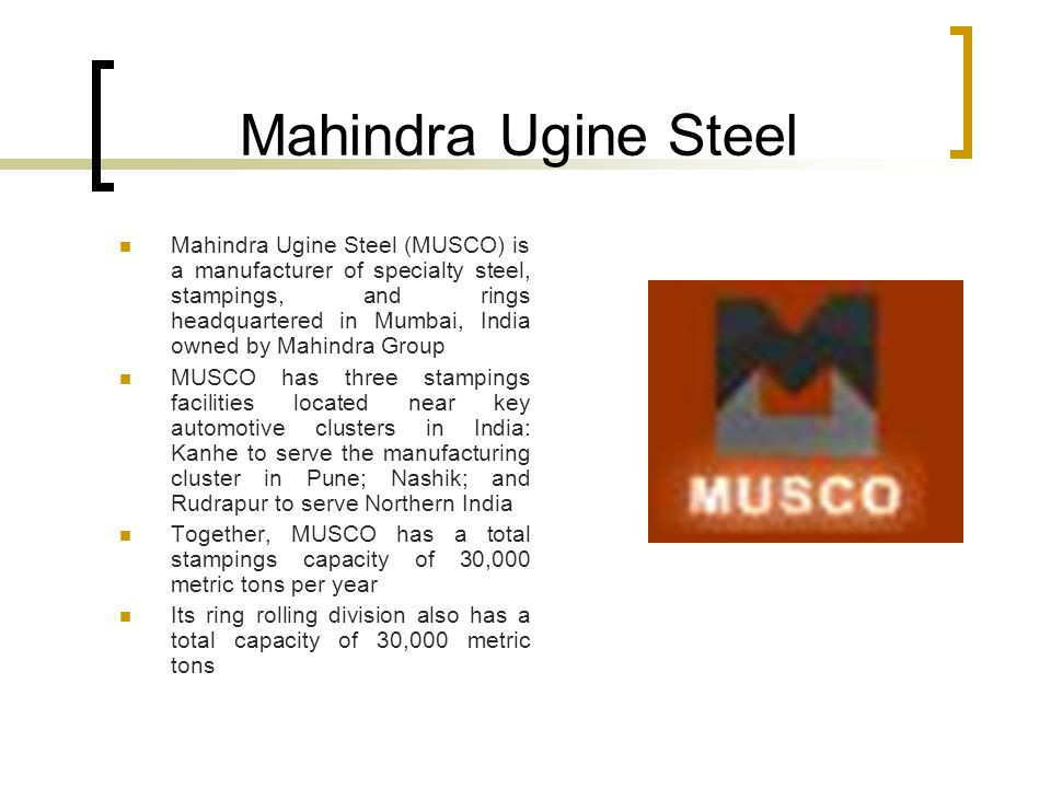 Steel Industry A Comparative Study Ppt Download