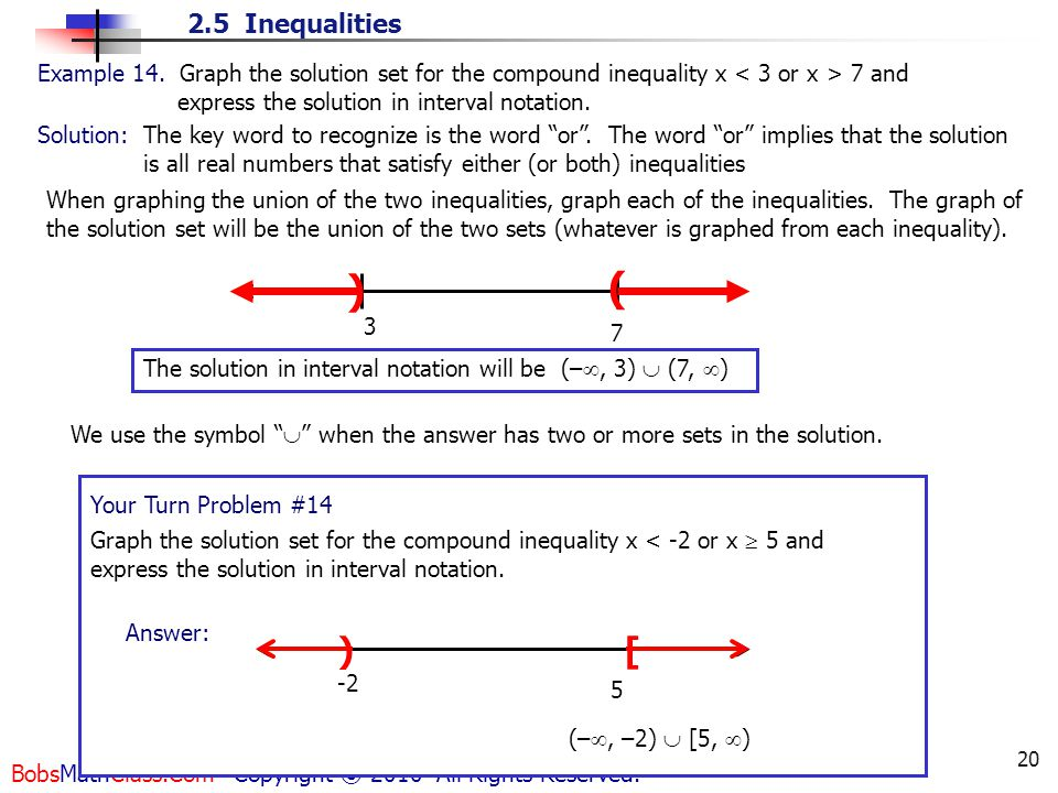 Write All Real Numbers In Interval Notation