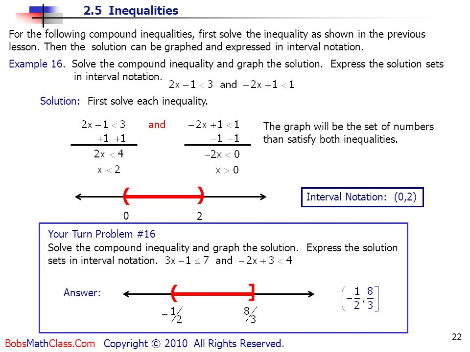 write the following as an inequality