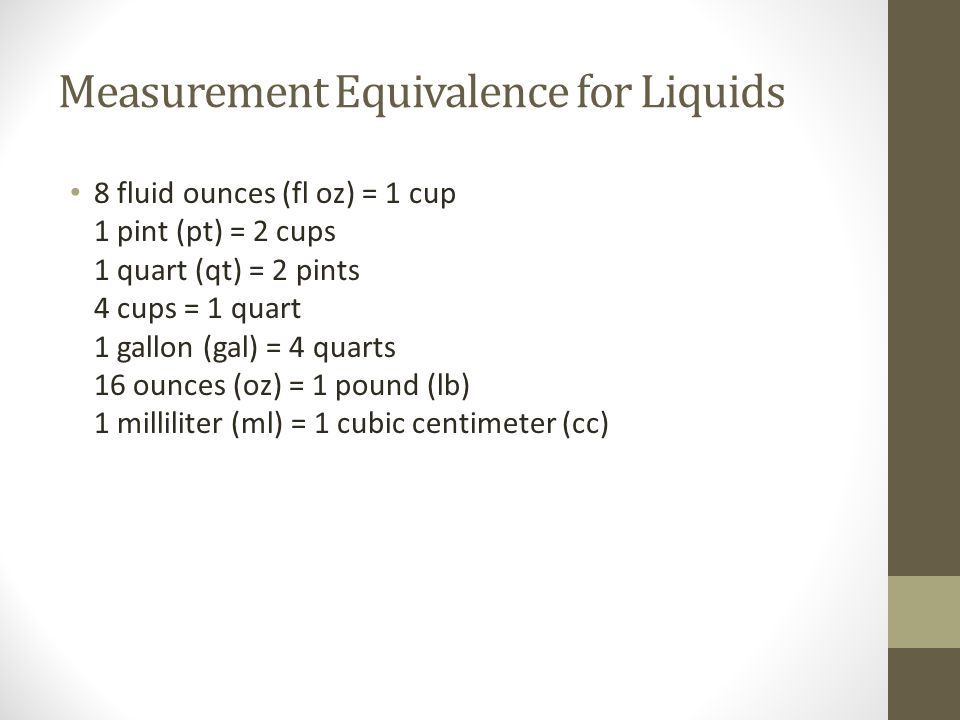 Measurement Equivalence for Liquids