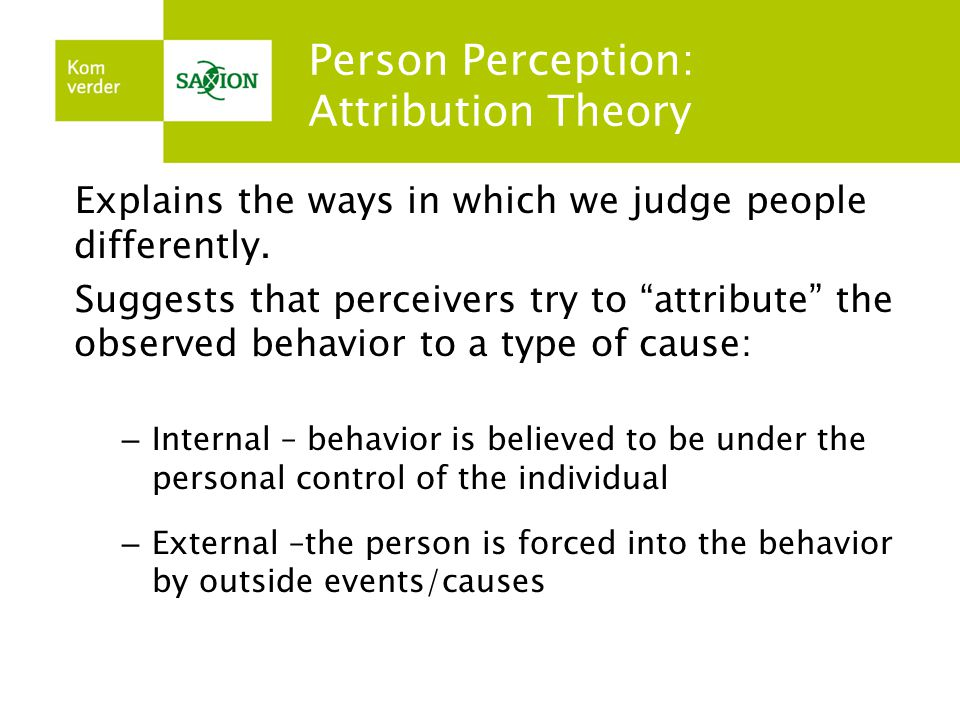 an analysis of person perception paradigm This is particularly true when internal cues are so weak or confusing they effectively put the person in the same position as an external observer self-perception theory.