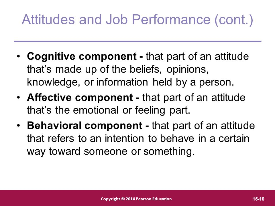 Attitudes and Job Performance (cont.)