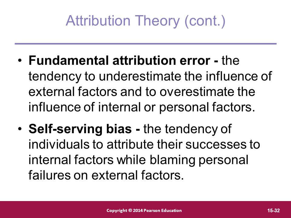 Attribution Theory (cont.)