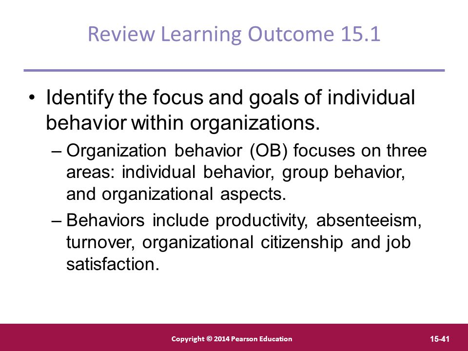 Review Learning Outcome 15.1