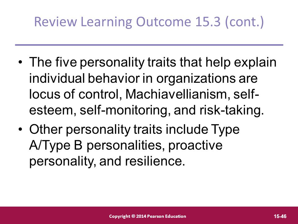 Review Learning Outcome 15.3 (cont.)