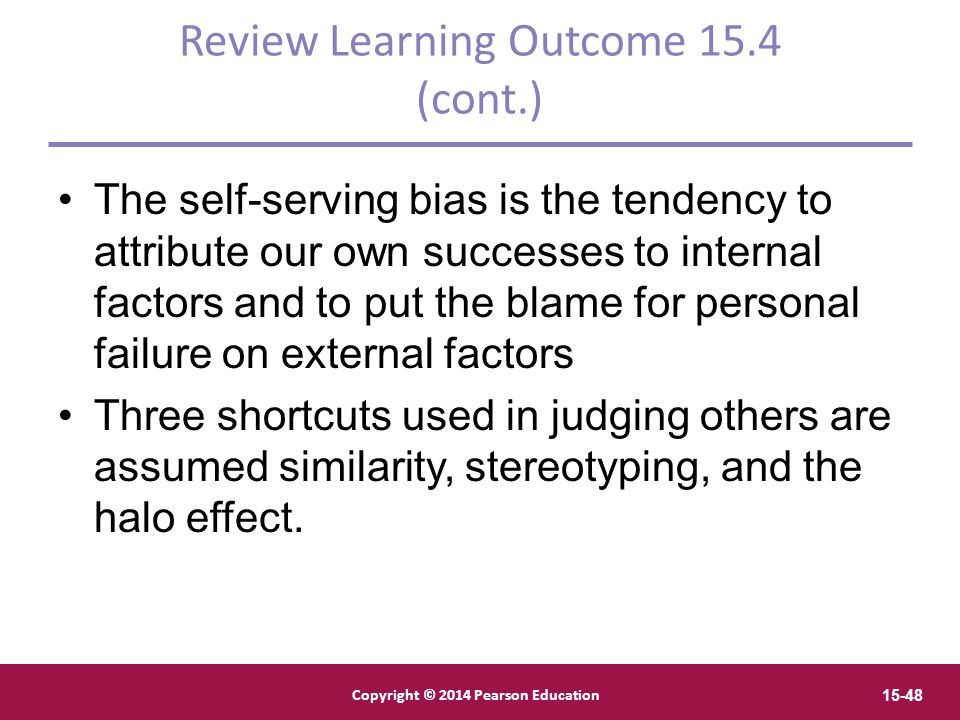 Review Learning Outcome 15.4 (cont.)