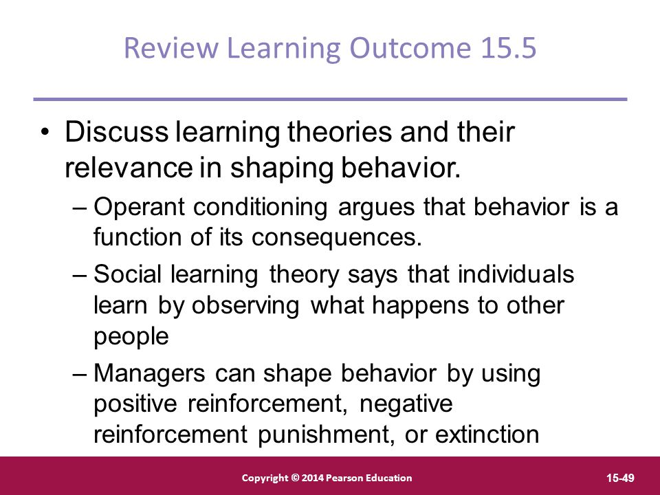 Review Learning Outcome 15.5