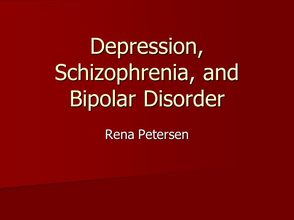 schizophrenia and depression My main symptoms of schizophrenia were depression, hearing voices and  having delusions, and i fought a hard battle against the illness and.
