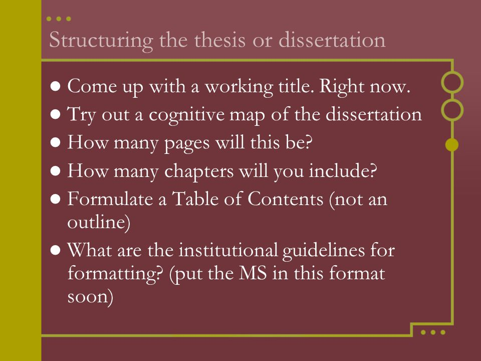 Dissertation writing tips a practical guidelines