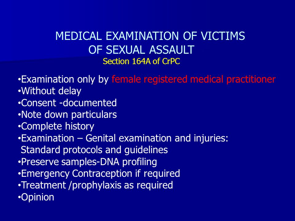 sexual assault medical treatment