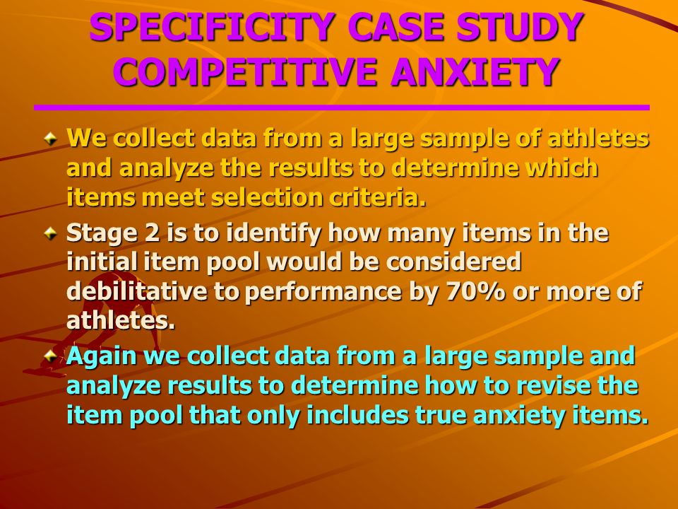 test anxiety case study Test anxiety is defined as a feeling of uneasiness or apprehension before, during, or after a test because of worry or fear (sapp, 1999 shokrpour, zareii, zahedi, & rafatbakhsh, 2011.