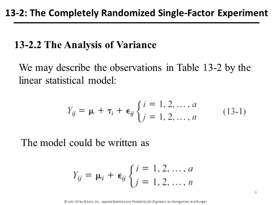 completely randomized factorial anova Treatment levels of all factors or variables thus, in a 2 x 2 factorial design, there are four treatment completely randomized factorial design.