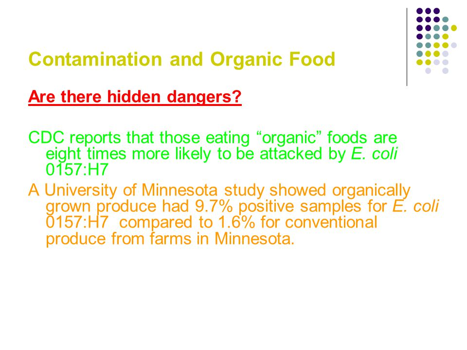 Cdc Organic Food E Coli