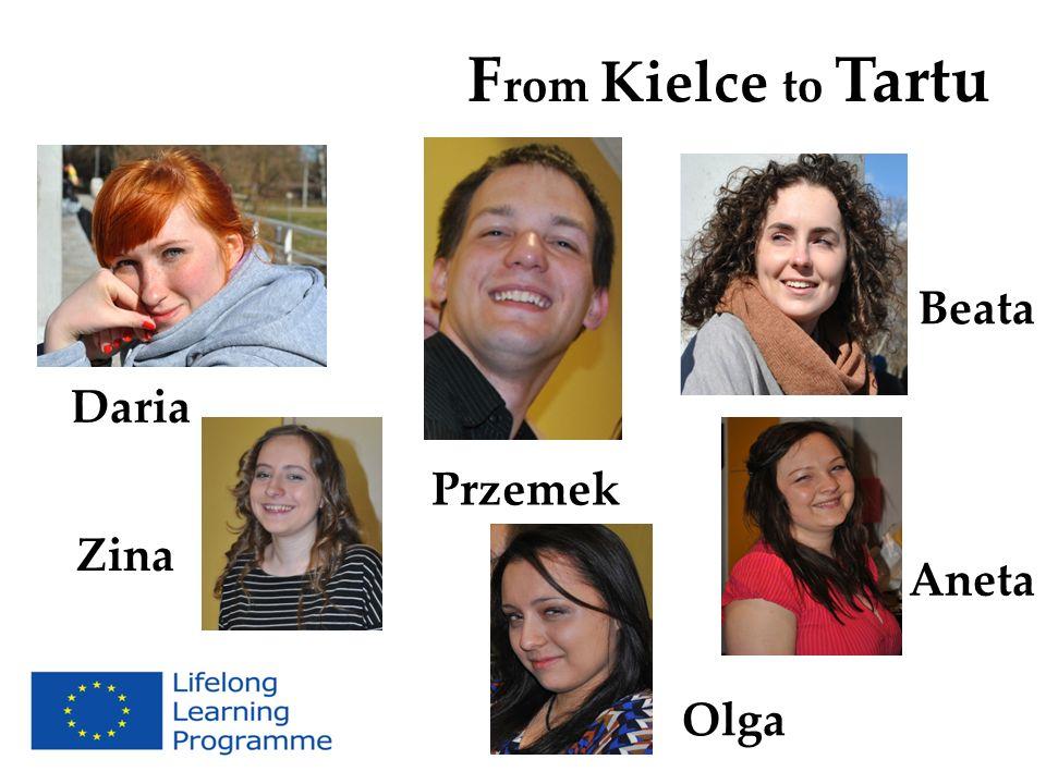 From Kielce to Tartu Beata Daria Przemek Zina Aneta Olga