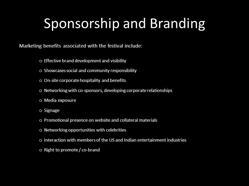 Sponsorship and Branding