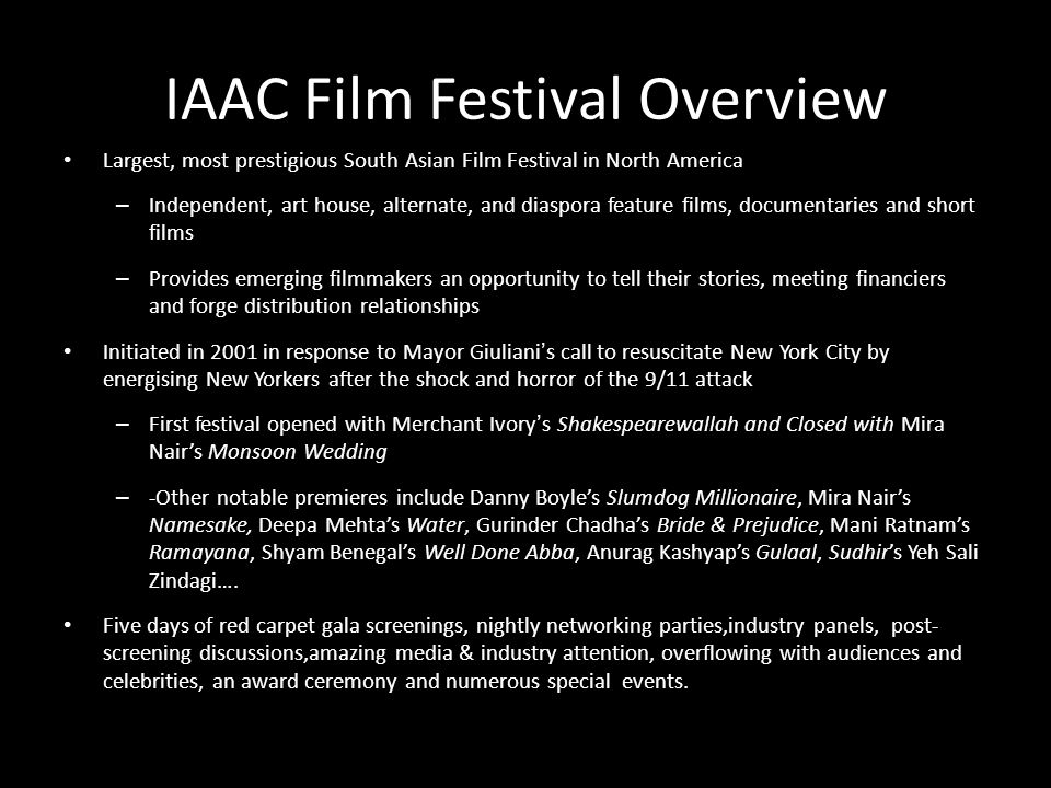 IAAC Film Festival Overview