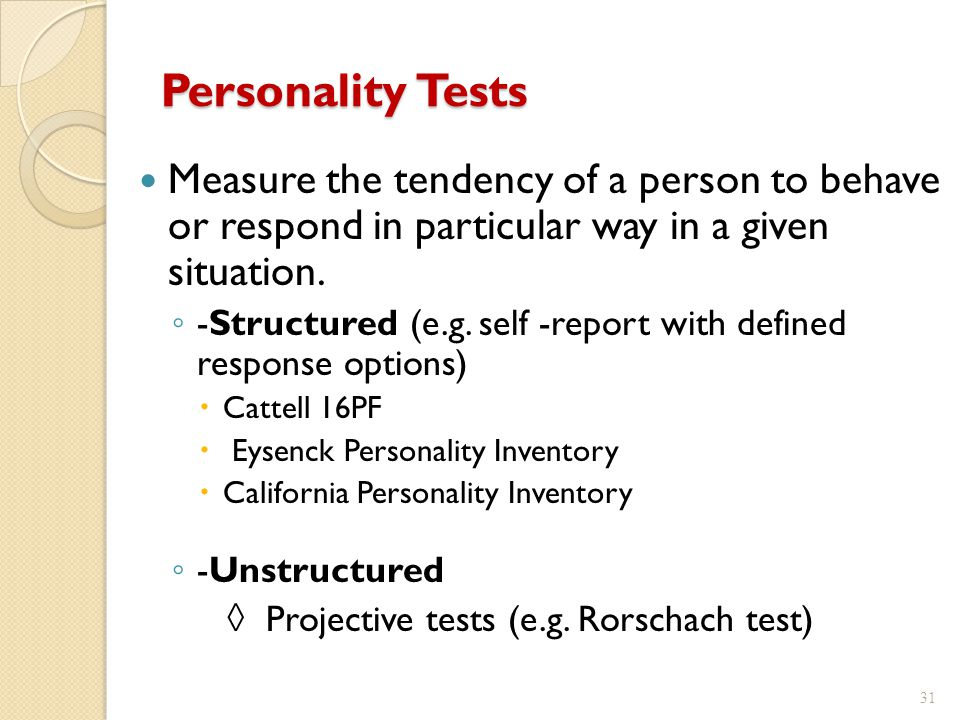personality assessment inventory The hogan personality inventory (hpi) predicts occupational success for employees use our personality assessment to hire the right people for your team.
