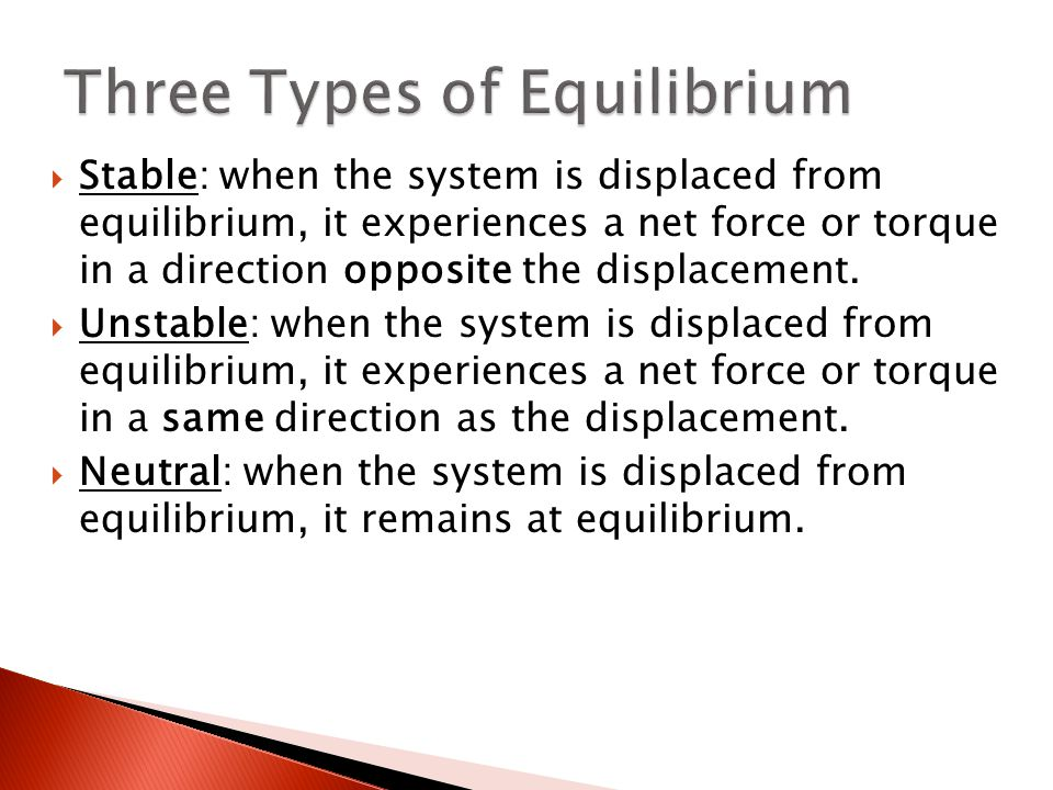 how to know equilibrium is stable or unstable