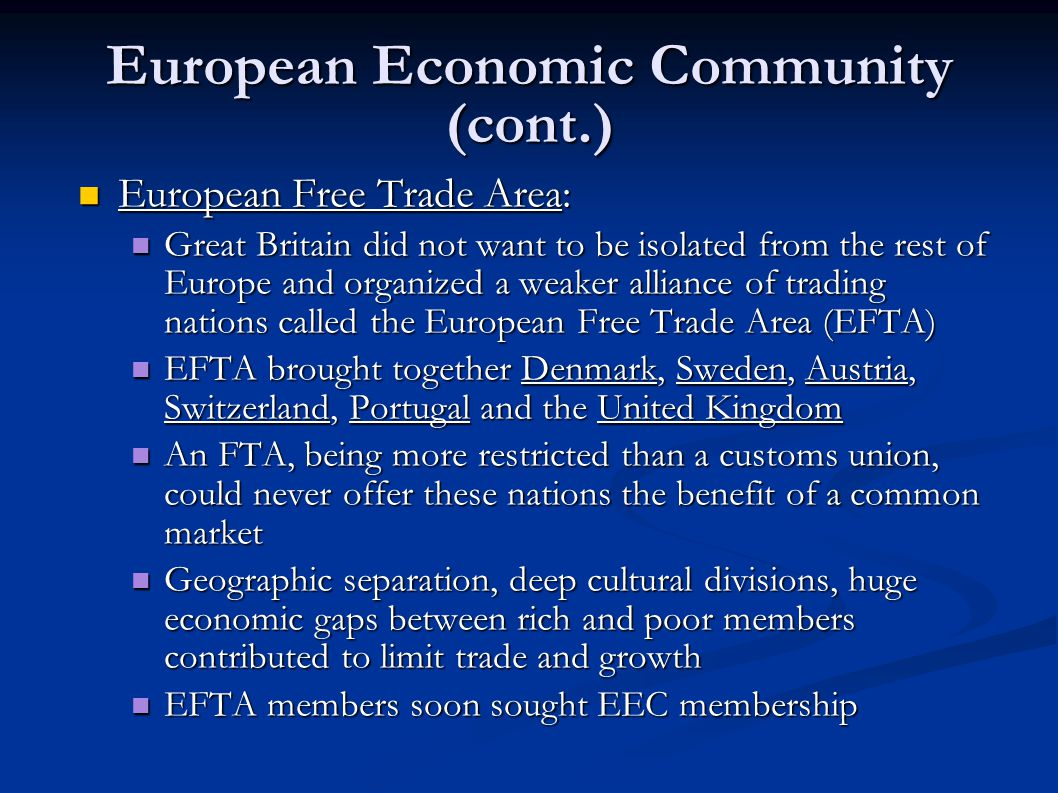 the european union more economic union than More than half of the laws are passed off of codecision parliament has more power in codecision than in co-op the maastricht treaty is an example, when the ecc became the eu.