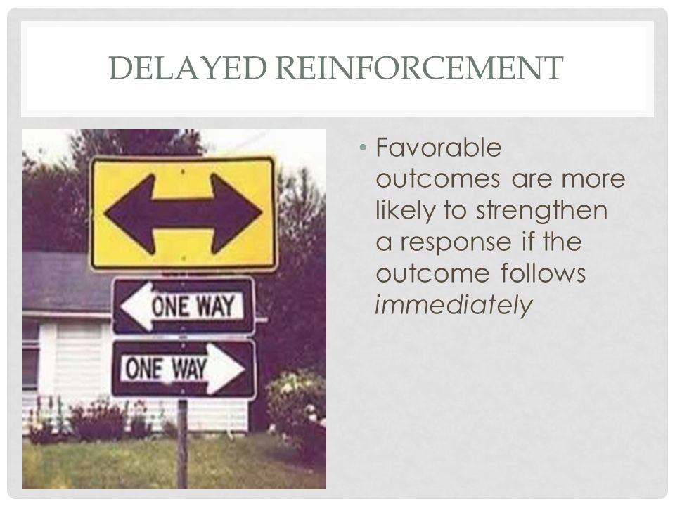 DELAYED REINFORCEMENT