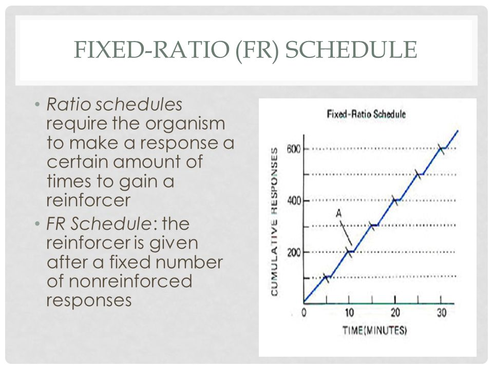 FIXED-RATIO (fr) SCHEDULE
